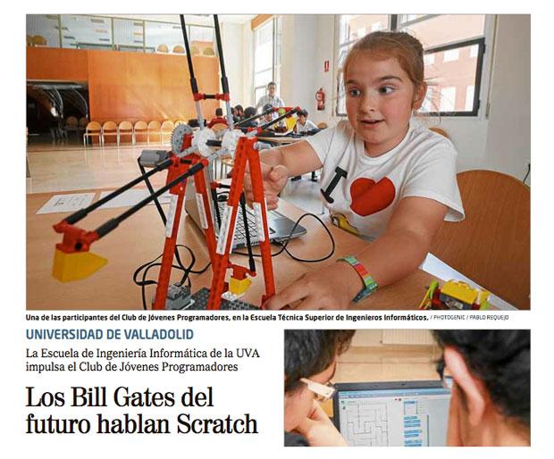 Entrevista de EL MUNDO Valladolid a Scratch @ UVa