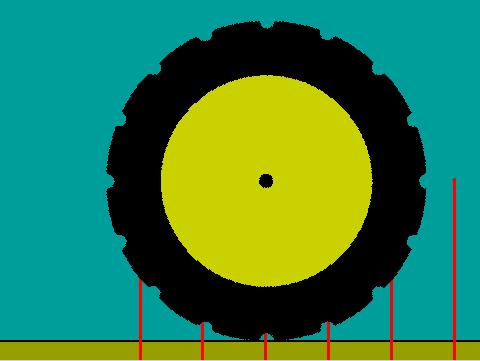 Figura 1: Apariencia del escenario en las primeras pruebas de rodaje