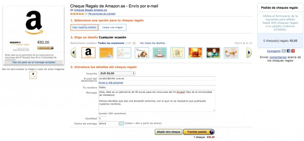 Cheque regalo Amazon