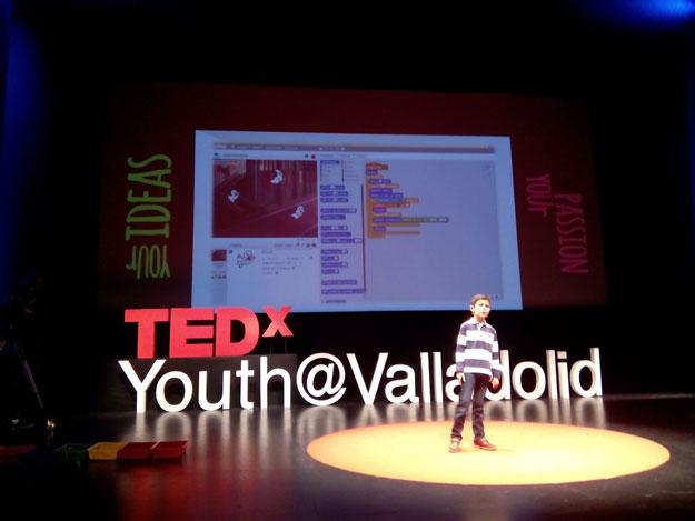 Antonio García Vicente: ponencia sobre programar en TEDxYouth Valladolid 2015