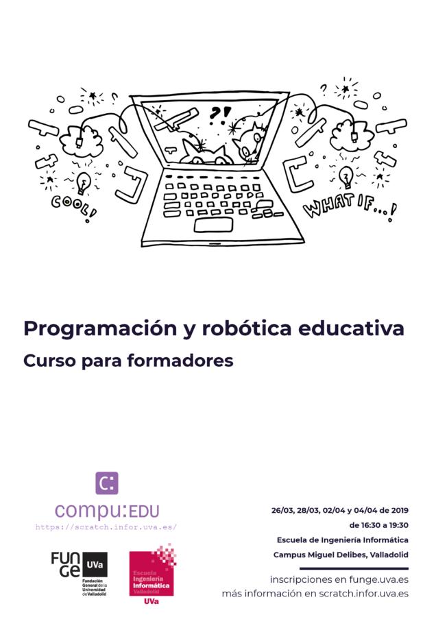 cartel curso de programación para formadores en Valladolid en 2019